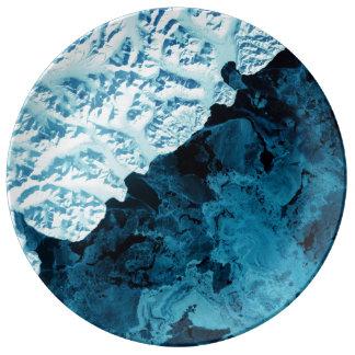 Kamchatka Peninsula Satellite Porcelain Plate