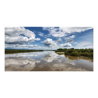 Kamchatka River in Kamchatka Peninsula. Russia Card