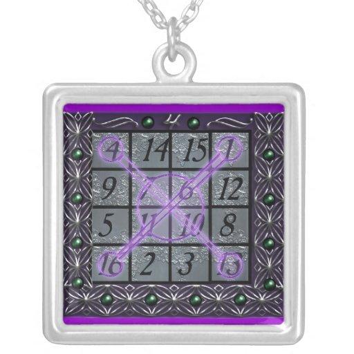 kamea jupiter square personalized necklace