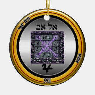 kamea jupiter talisman ceramic ornament