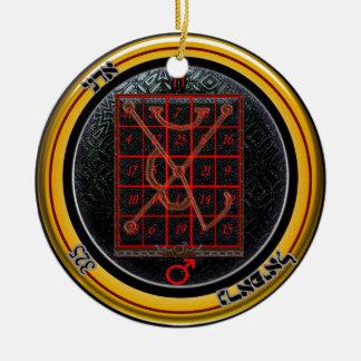 kamea mars talisman ceramic ornament
