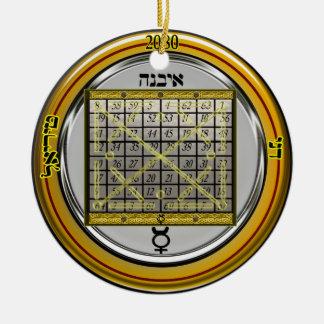 kamea mercury talisman ceramic ornament