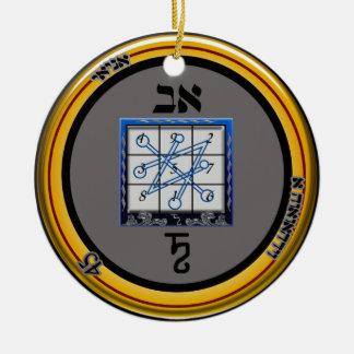 kamea saturn talisman ceramic ornament
