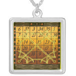 kamea solar square pendants