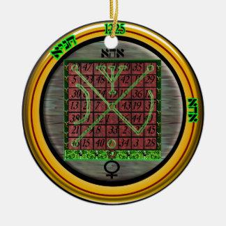 kamea venus talisman ceramic ornament