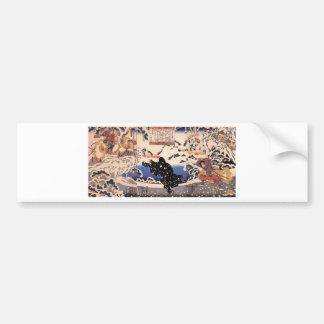 Kamei Rokuro and the Black Bear in the Snow Bumper Sticker