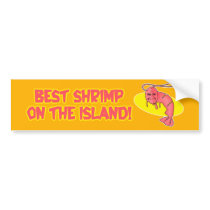 Kamekona's 'Best Shrimp' Bumper Sticker
