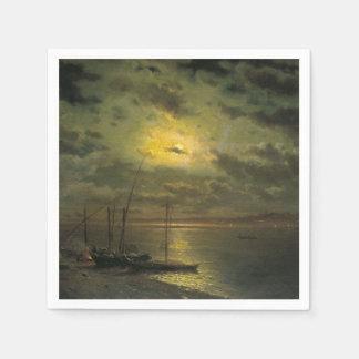 Kamenev s Moonlit Night On The River Paper Napkins