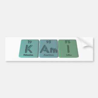 Kami as Potassium Americium Iodine Bumper Sticker