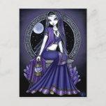 """""""Kami"""" Purple Moon Sari Fairy Postcard"""