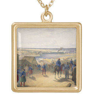 Kamiesch, plate from 'The Seat of War in the East' Gold Plated Necklace
