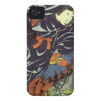 Kamigashihime stabbing a giant spider by Utagawa iPhone 4 Case-Mate Case