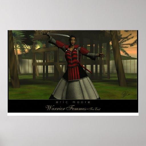 Kamikasuro Lady Samurai Print