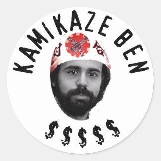 Kamikaze Ben Round Stickers