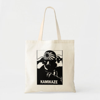 Kamikaze Black and White Japanese Pilot Tote Bag