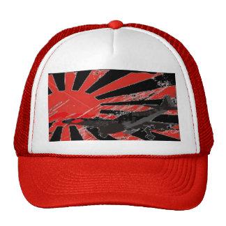 Kamikaze Bomber Japanese Rising Sun Flag - Custom Trucker Hats