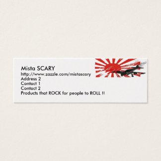 Kamikaze Bomber Japanese Rising Sun Flag, Mista... Mini Business Card