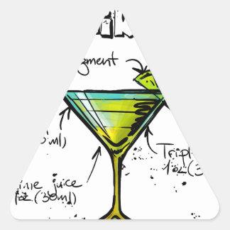 Kamikaze Cocktail Recipe Triangle Sticker