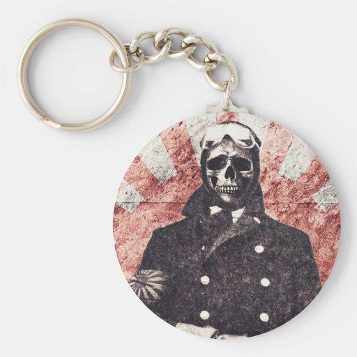 Kamikaze del cráneo llaveros personalizados