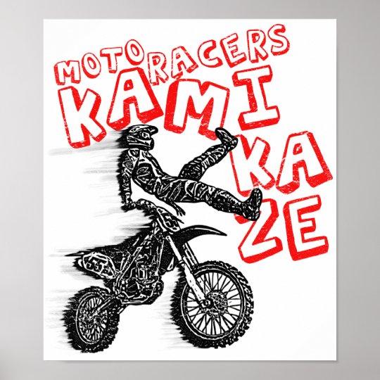 Kamikaze racing poster