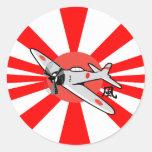 Kamikaze Skateboarding Round Stickers