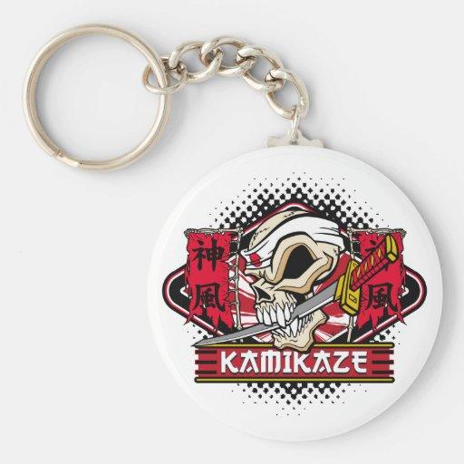 Kamikaze Skull Key Chain