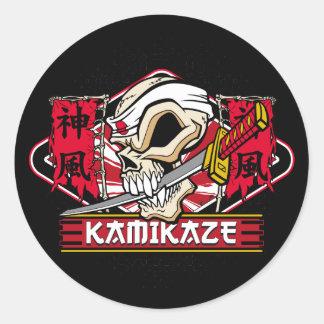 Kamikaze Skull Stickers