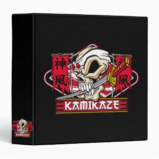 Kamikaze Skull With Japanese Katana Sword 3 Ring Binders