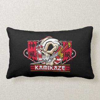 Kamikaze Skull With Japanese Katana Sword Lumbar Pillow