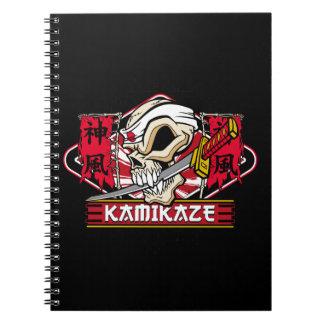 Kamikaze Skull With Japanese Katana Sword Note Book