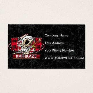 Kamikaze Skull With Japanese Sword Business Card