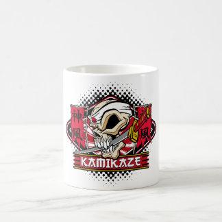 Kamikaze Skull With Japanese Sword Coffee Mug