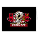 Kamikaze Skull With Japanese Sword Greeting Card