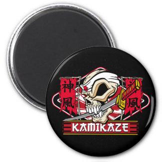 Kamikaze Skull With Japanese Sword Magnet
