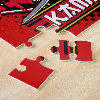Kamikaze Skull With Japanese Sword Jigsaw Puzzles