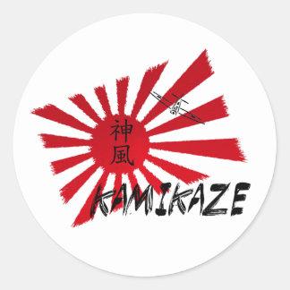 Kamikaze Round Sticker