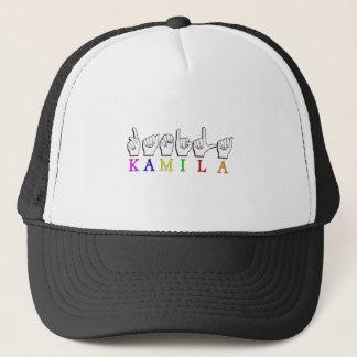 KAMILA ASL NAME SIGN FINGERSPELLED TRUCKER HAT