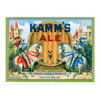 Kamm's Ale Beer Vintage Drink Ad Art Postcard
