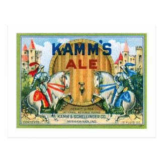 Kamm's Ale Beer Vintage Drink Ad Art Post Cards