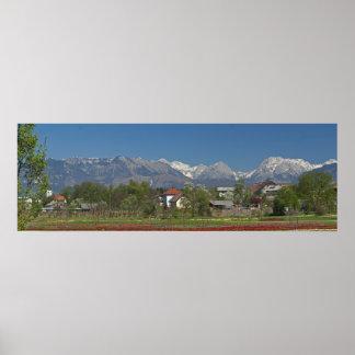 Kamniske alpe Slovenia Slovenian Alps Poster