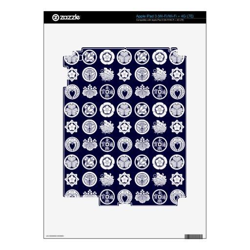 kamon pattern2 pegatinas skins para iPad 3