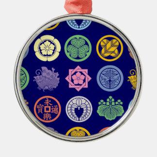 kamon pattern3 metal ornament