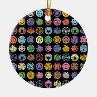 Kamon pattern 1 ceramic ornament