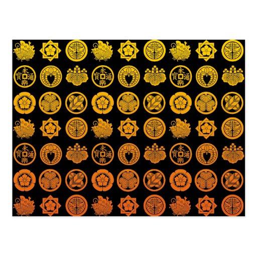 Kamon pattern 2 葉書き