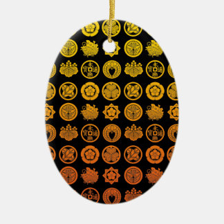 Kamon pattern 2 ceramic ornament
