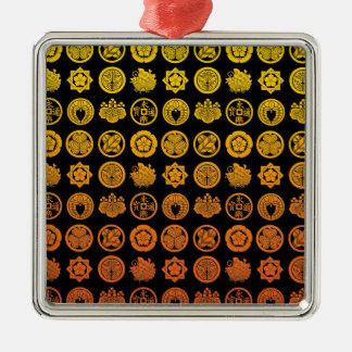 Kamon pattern 2 metal ornament