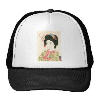 Kamoshita, Maiko Japanese Woodblock Print Trucker Hat