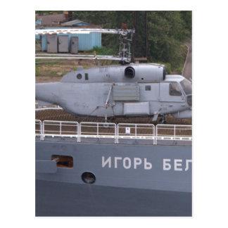 Kamov KA27 Russian Helicopter Postcard