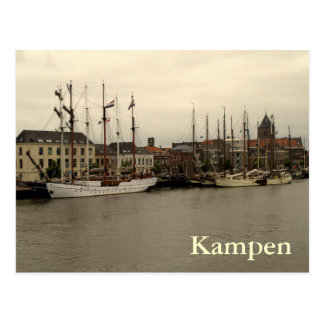 Kampen on the bank of the IJssel river Postcard