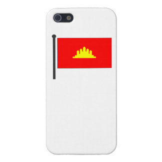 Kampuchea Flag Cover For iPhone 5